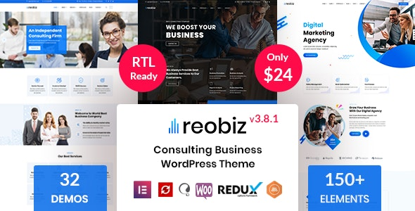 Nulled Reobiz v3.8.1 - Consulting Business WordPress Theme