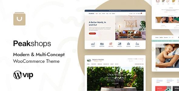 Nulled PeakShops v1.4.6 - Modern & Multi-Concept WooCommerce Theme