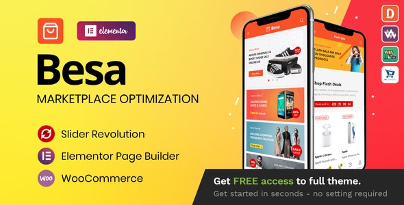 Nulled Besa v1.3.0 - Elementor Marketplace WooCommerce Theme