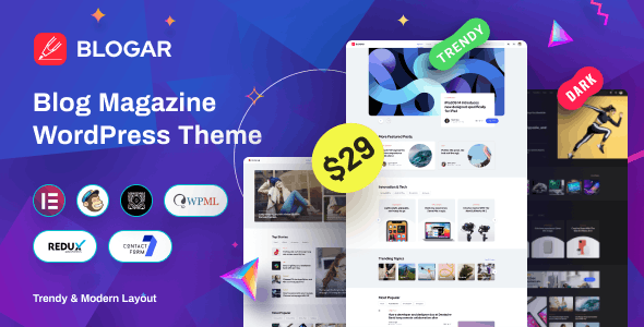 Nulled Blogar v1.0.2 - Blog Magazine WordPress Theme
